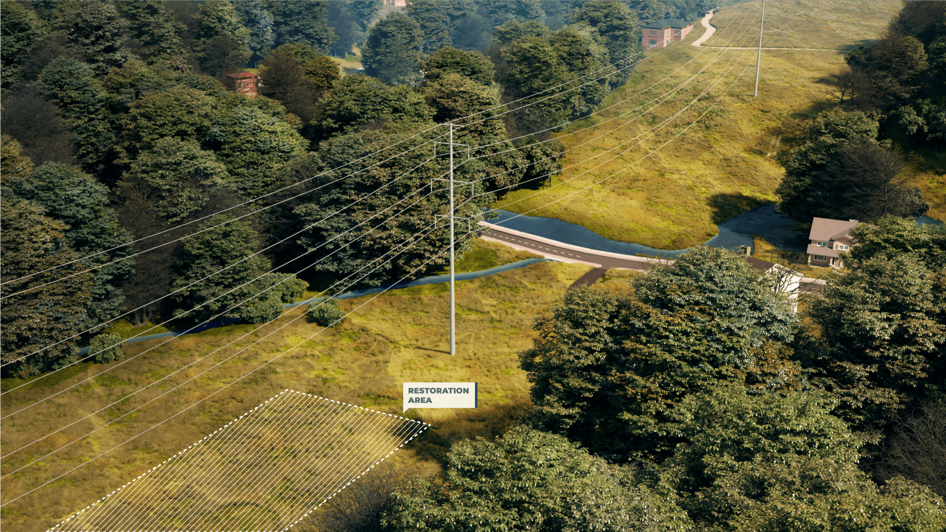 <h2>Step 4: Completed Project</h2>Completed construction showing upgraded conductors.